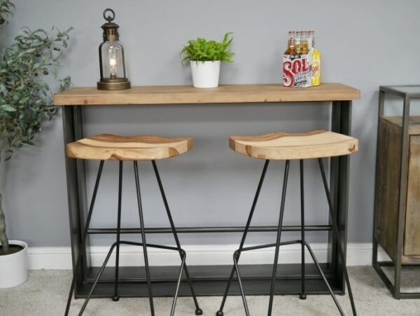 Set Bar Stool Minimalis Kaki Besi